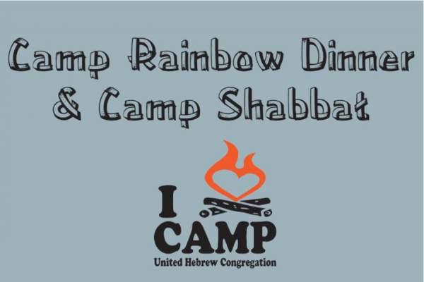 Camp Rainbow Dinner & Camp Style Shabbat Service